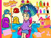 Play Pollys hair stylin salon Game