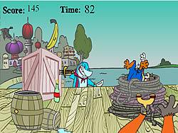 Jogar jogo grátis Cubesteak's Slingshot Surprise