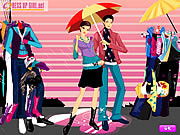 Play Colors of the rain dressup Game