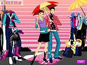 Jugar Colors of the rain dressup Juego