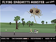 Play Flying spaghetti monster Game