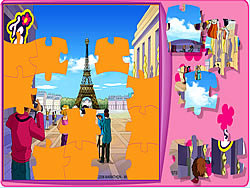 Totally Spies Puzzle - Eiffel Tower game