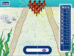 Spongebob Squarepants in Bikini Bottom Bowling game
