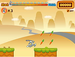 मुफ्त खेल खेलें Bugs Bunny's Hopping Carrot Hunt