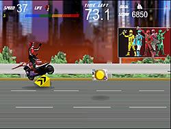 Permainan Power Rangers - Moto Race
