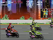 Power Rangers - Moto Race game