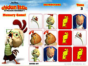Chicken little memory game juego