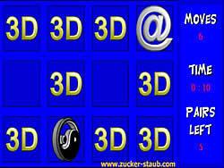 3D Memory game