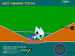 Yeti Hammer Throw oyunu