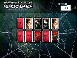 Spider-man 3 Memory Match game