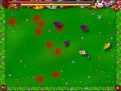 Chainsaw Killer Zombie against Cute Little Bunnies game