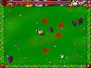 Jugar Chainsaw killer zombie against cute little bunnies Juego