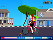 Play Cycling kiss Game
