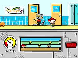 Robot Jones in Follow that Brain game