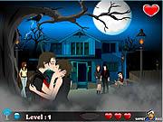 Chơi trò chơi miễn phí Halloween Kiss