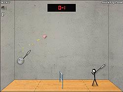 Stick Figure Badminton spel