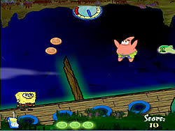 SpongeBob in Ghostly Gold Grab game