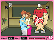 Play Kiss in elevator Game
