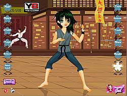 Permainan Karate Kickin Chic Dress Up