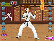 Play Karate kickin chic dress up Game