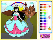 Castle of princess coloring game Spiele