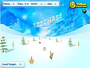 Play Spongebob squarepants snowboard rider Game