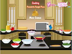 Permainan Cooking Prosciutto Funghi Pizza
