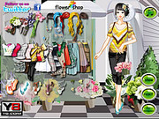 Play Flower store girl dress up Game