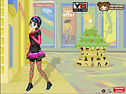Play Emo shopping dress up Game
