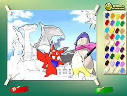 Pikachu Kids Coloring game