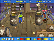 Play Scooby doos pirate pie toss Game
