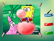 Spongebob And Patrick Coloring Game لعبة