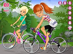 Maria and Sofia Go Biking  game