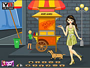 Play Hotdog gal dress up Game