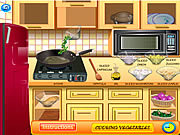 Play Vegetable frittata cooking Game
