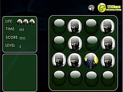 Gioca gratuitamente a Ninjas - Memroy Balls