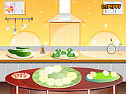 Play Cucumber and strawberry salad Game