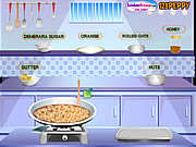 Play Nutty orange flapjacks Game