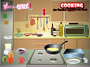 Play Cooking jam pancakes flamed with kirsch Game