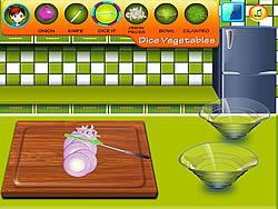 Sara's Cooking Class - Garlic Pepper Shrimp game