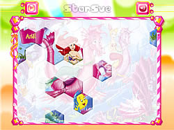 Princess Ariel Hexagon Puzzle game