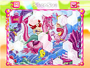 Princess Ariel Hexagon Puzzle game