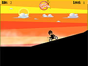 Play Ben 10 hard bike Game