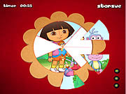 Play Dora the explorer round puzzle Game