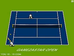 Gamezastar Open Tennis game