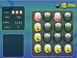 Sponge Bob Memory Balls game