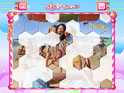 On The Beach Hexagon Puzzle game