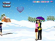 Play Snow fall kissing Game