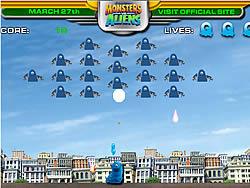 Jogar jogo grátis Monsters Vs Aliens Galaxhar Attacks