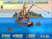 Play Defend fish  boat Game